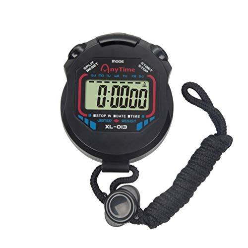 BESPORTBLE - Cronómetro digital con cronógrafo y cuenta atrás con pulsera de alarma, regalo para profesores, niños, árbitro, corredor, deporte, cocina
