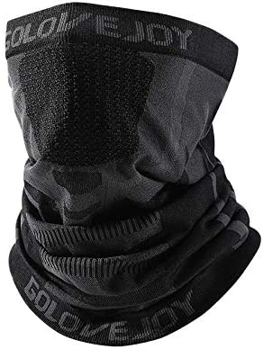 Winter Face Mask Balaclava Warm Knit Full Face Cover for Outdoor Sports - Men and Women(Black)