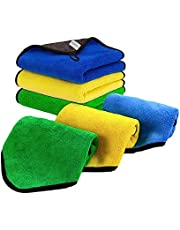 Oakland Car Drying Towel, Microfiber Cloth 3-Pack 40x30cm Car Cleaning Kit, Soft Towel for Car Detailing, Microfiber Cleaning Cloth For Cars, Windows, Glass, Mirrors and Kitchen, Thick and Dual-Layer