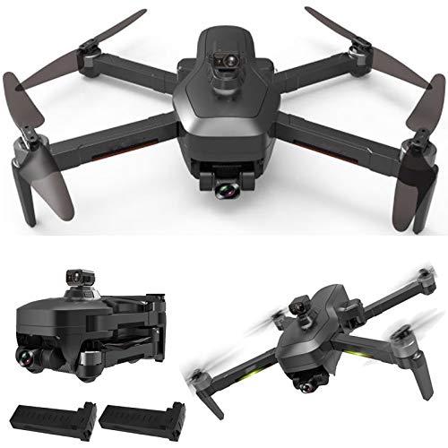 GACYSMD Drone Gimbal de 3 Ejes con cámara de 4K UHD para Adultos Drone Plegable con 5Hz FPV Video RC Quadcopter Dual Cámaras sin Cabeza Modo sin Cabeza 2 baterías y Estuche de Transporte