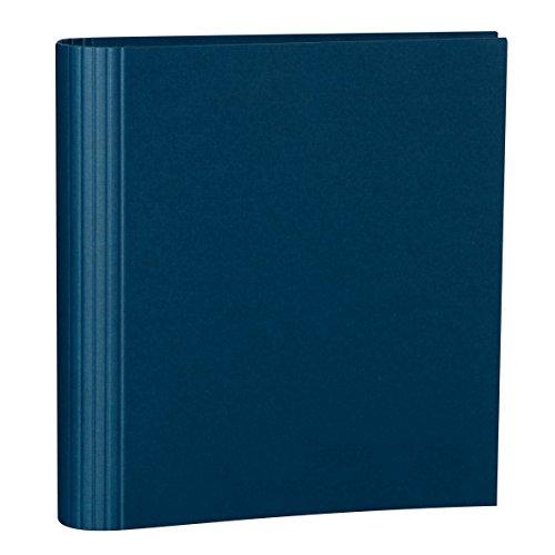 Semikolon (353299) Foto-Ordner 4 Ring marine (blau) - Foto-Mappe zum Selbstgestalten mit Efalinbezug - Basis für Foto-Album oder Fotobuch
