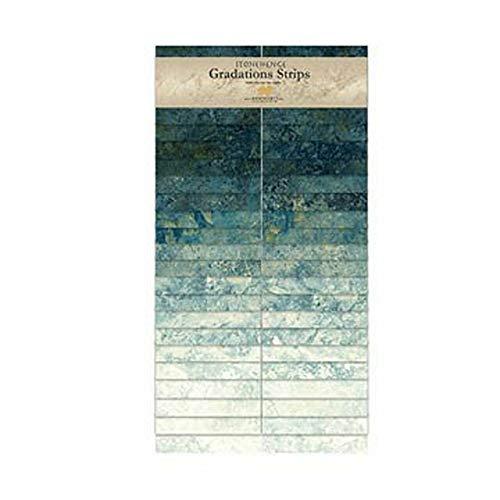 Stonehenge Gradations SSTONE40-49 Blue Planet 40~ 2 1/2' Strips by Northcott