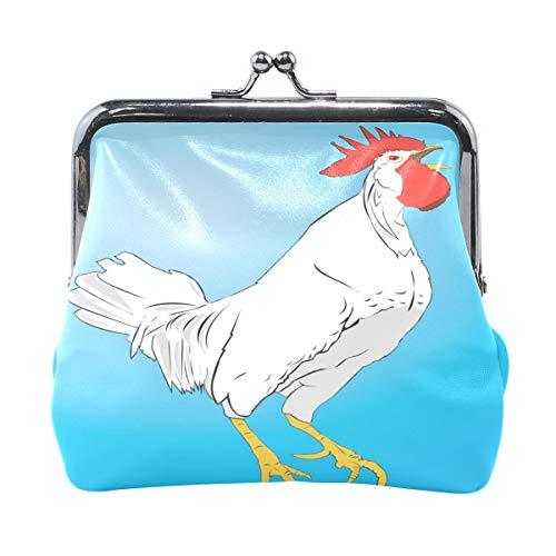 LIANCHENYI Mini porte-monnaie en forme de poulet blanc pour femmes filles