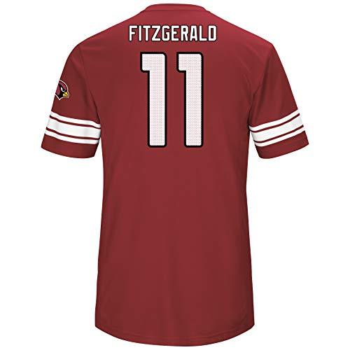 Majestic Larry Fitzgerald Arizona Cardinals Red Big & Tall Hashmark Jersey T-Shirt 2XL