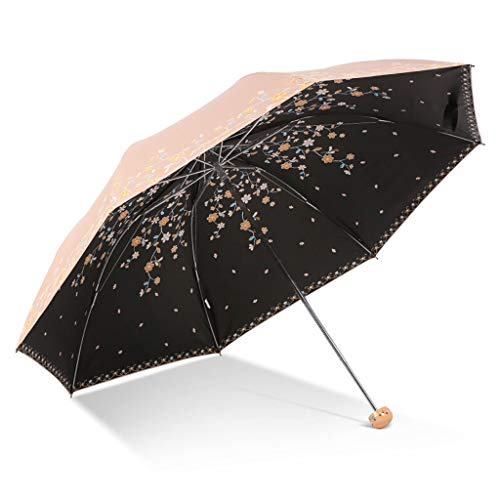 XZ15 Paraplu parasols licht draagbare zwarte plastic zonnescherm paraplu opvouwbare paraplu mobiele telefoon mobiele drievoudige paraplu