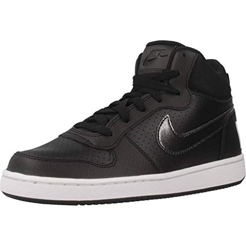 Nike Court Borough Mid (GS), Scarpe da Basket Donna, Nero Black-White 004, 38 EU
