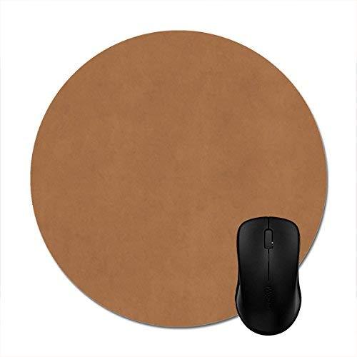 Runde Mousepads Vintage Leder braun Pergament Papier Vorlage drucken Maus Matte 8in