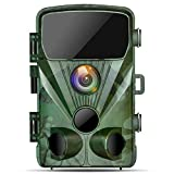 TOGUARD Caméra de Chasse 1080P 20MP Caméra de Faune, Caméra de Surveillance Étanche avec Vision Nocturne Infrarouge Détecteur de Mouvement, Caméra de Jeu Grand Angle 130°
