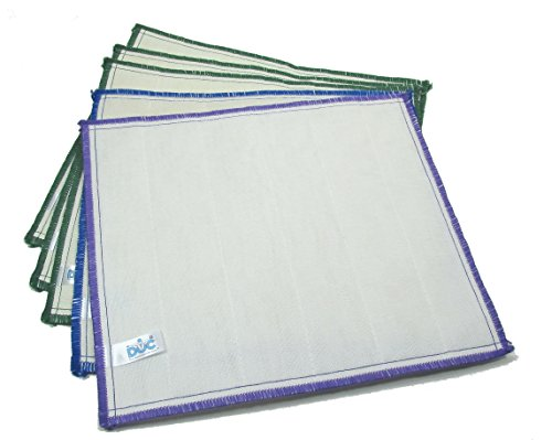 DOC Wood Fiber Cleaning Cloths, 3 Color Pack, 5-piece Set by Doc - Colors may vary