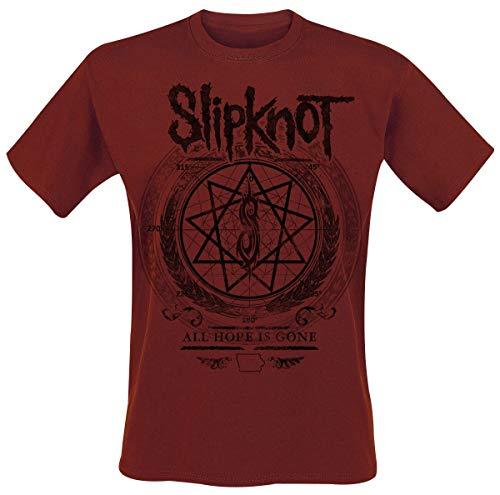 Slipknot Blurry Hombre Camiseta Rojo Oscuro M, 100% algodón, [Effekte/Besonderheiten] + Regular