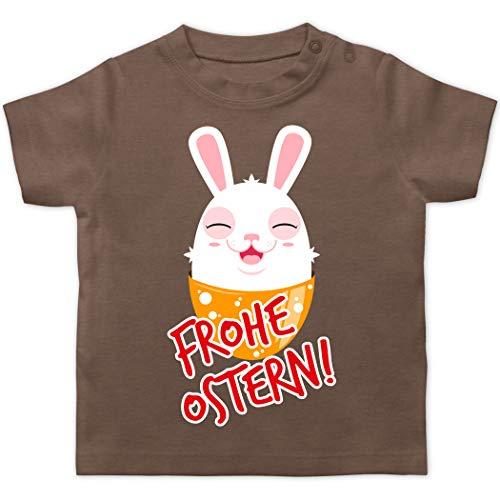 Ostern Baby - Frohe Ostern - Osterhase - 6/12 Monate - Braun - Ei - BZ02 - Baby T-Shirt Kurzarm