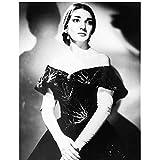 Gigoo Maria Callas Opernsängerin Schwarz Weiß Porträt