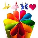 ZUZER 200 hojas Papel de Colores A4 A5 Origami Papel de Impresión de Oficina Papel Plegable para Manualidades de Papel de Bricolaje