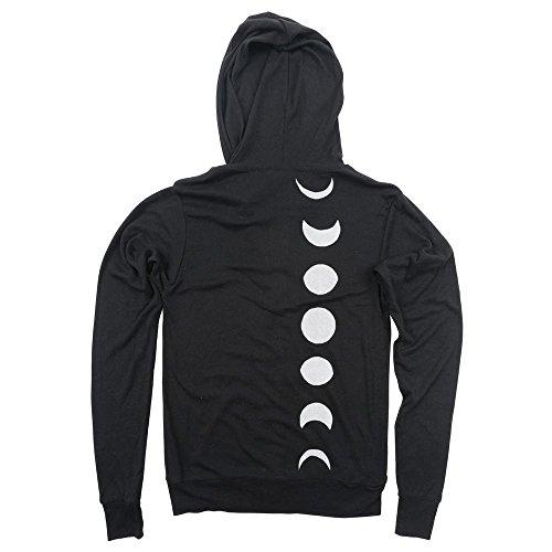 Moon Phase Unisex Lightweight Zip-Up Hoodie