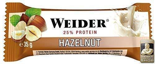 Weider Body Shaper - Fitness Bar + Protein - Haselnuss (24 Riegel á 35g)