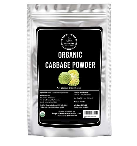 Naturevibe Botanicals Organic Cabbage Powder, 1lbs | Non-GMO, Gluten Free and Vegan (16 ounces)