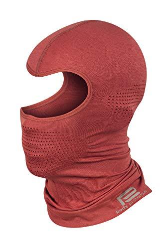 Prosske Pasamontañas térmico de malla para mujer, hombre, niño, niña, niño, pasamontañas rojo XS/S