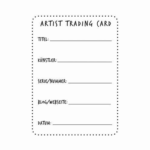 efco Stempel Clear Artist Trading Card 2 A7 / 74 x 105 mm 1 - teilig transparent