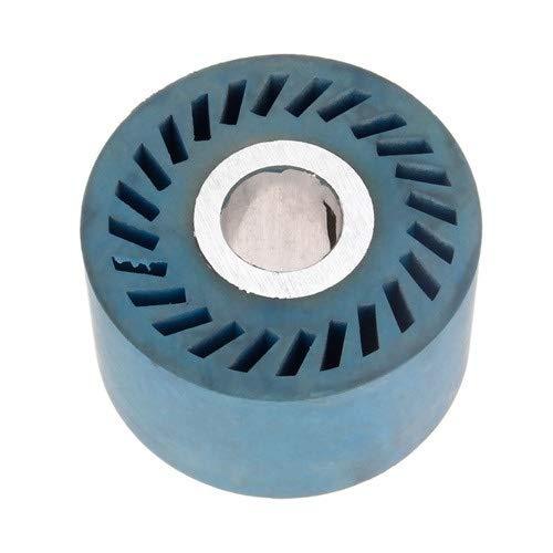 F-MINGNIAN-TOOL, 1 Stück 86 x 50 mm feste gerillte Gummi-Kontaktscheibe für Bandschleifer, Schleifer, Polieren, Anfasen, Schleifscheibe, Schleifband (Größe: 86 x 50 x 25 mm massiv).