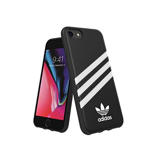 Carcasa ADIDAS Moulded Case PU FW 18 Negro/Blanco Compatible con iPhone 6/6S/7/8