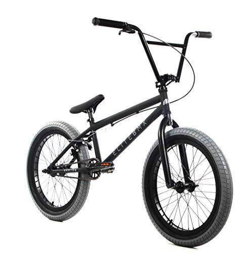"Elite 20"" & 18"" BMX Bicycle Destro Model Freestyle Bike - 4 Piece Cr-MO Handlebar (20"" Black Charcoal)"