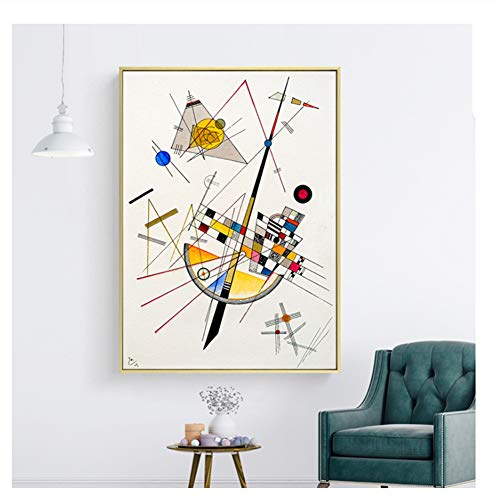 Suuyar Geometrie Design Wassily Kandinsky Kunst Leinwanddruck Malerei Poster, Wandbilder Für Wohnzimmer, Wohnkultur Wand Decor-50x70 cm Kein Rahmen