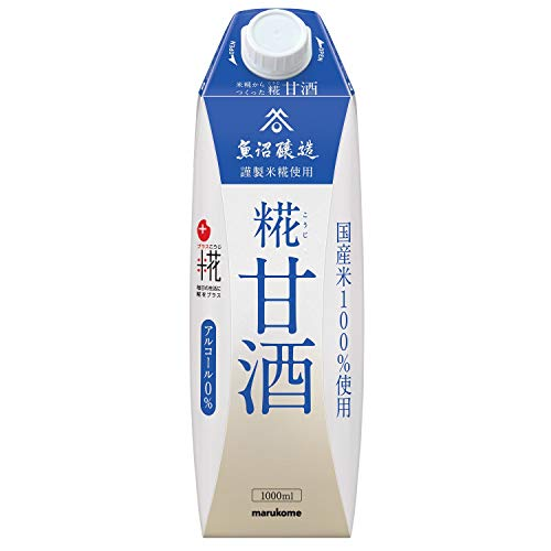 マルコメ プラス糀 米糀からつくった甘酒 LL ケース 1L×6本入 [0323]