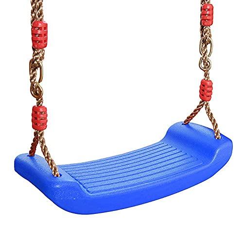 FYRMMD Columpio de jardín Interior para niños Asiento de Columpio de plástico para Exteriores con Cuerda Ajustable Carga máxima 100 kg Columpio de Patio Antideslizante