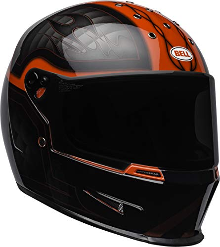 Bell Helmets Herren Eliminator Motorradhelme, schwarz/rot, M