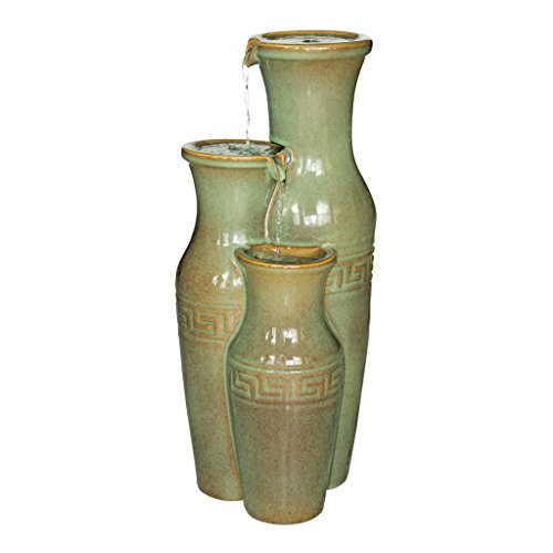 Water Fountain - Ceramic Grecian Water Jugs Garden Decor Fountain - Outdoor Water Feature