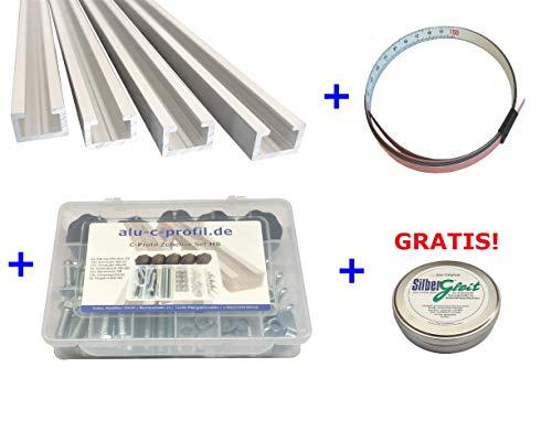 17/x 11/mm anodizzato adatto per viti M8 da 0,5 m Profilo in alluminio a forma di C
