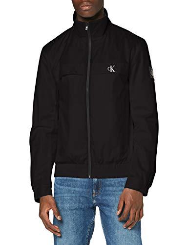 Calvin Klein Jeans Herren Zip Up Harrington Jacke, Black, XL