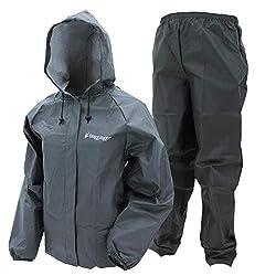 frogg toggs Ultra-Lite2 Damen Regenanzug, wasserdicht, atmungsaktiv, Damen, einteilig, Ultra-Lite2 Waterproof Breathable Protective Rain Suit, carbon, Large