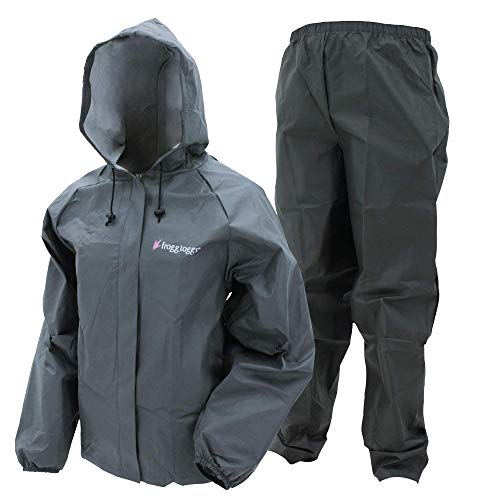 frogg toggs ultraleichter Regenanzug für Damen, wasserdicht, atmungsaktiv, Damen, einteilig, Ultra-Lite2 Waterproof Breathable Protective Rain Suit, carbon, Medium