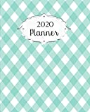 2020 Planner: Gingham Daily, Weekly & Monthly Calendars | January through December | #8 | Large Blue
