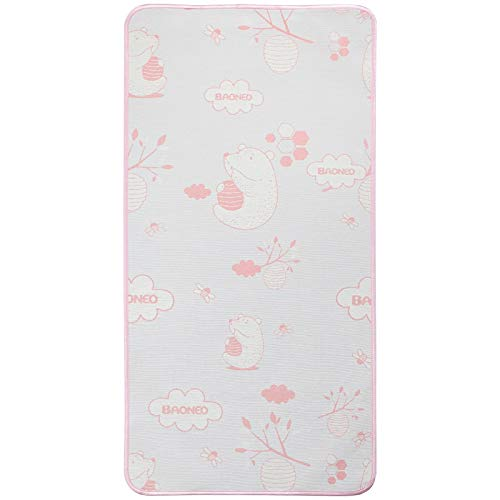 YJFENG Mat, Baby Cool Without Ice Smooth And Soft Sweat-absorbing And Breathable Sleep Naked Custom Made Kindergarten Children Bed Children (Color : B Pink, Size : 60x200cm)