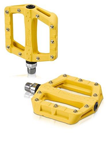 XLC Pedale MTB Trekking, gelb, 20 x 10 x 4cm