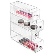 iDesign 36560EU 4-Drawer Vanity/Cosmetic Organizer, Set of 1, Clear