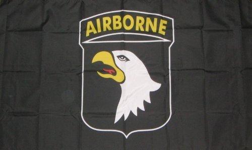101st embarqués armée américaine Noir Drapeau de la Seconde Guerre mondiale