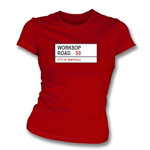 PunkFootball Worksop Road S9Donna Slimfit t-Shirt Rotherham United X-Large