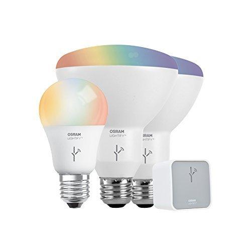 SYLVANIA General Lighting 73881 Smart Home Kit de iniciación LED ajustable, blanco y a todo color