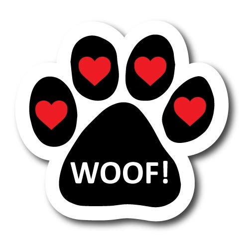 Magnet Me Up Woof Pawprint Car Magnet Paw Print Auto Truck Decal Magnet