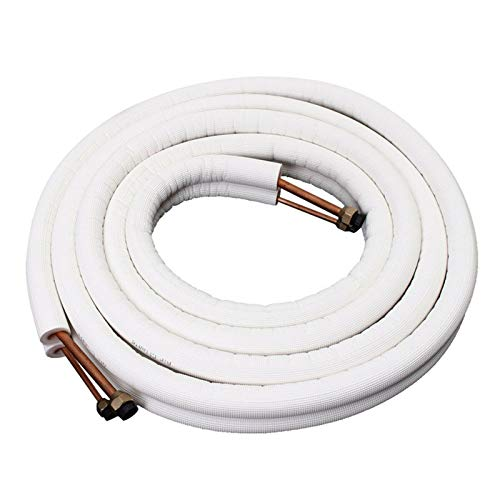 Tubo de cobre aislado de 1/4 pulgadas 3/8 pulgadas para aire acondicionado, doble par de tubos de bobina (5)
