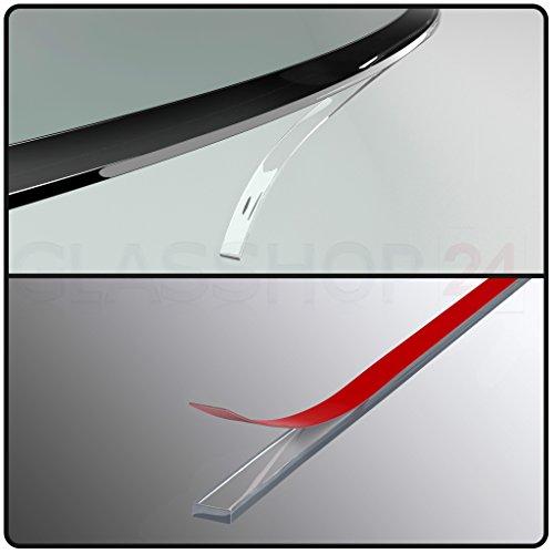 bijon® Silikon Dichtlippe Schmutzlippe für Kaminplatte/Glasbodenplatte/Ofenplatte/Bodenplatte/Kaminofenplatte - 4,5m glasklar