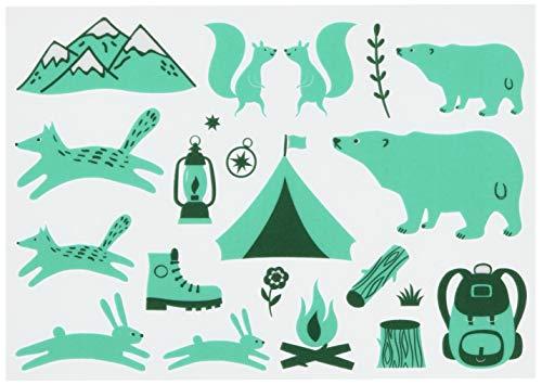irodo(イロド) キャンプ グリーン・クロムグリーン 【アイロン不要】【布用転写シール】【革・化繊OK】【ハンドメイド】 …