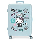 Maleta Mediana HELLO KITTY You Are Cute rígida 68cm Azul Claro