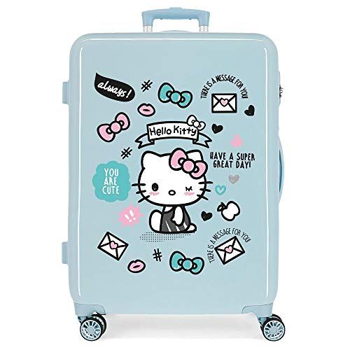 Hello Kitty You Are Hartschalenkoffer 68 cm, Hellblau