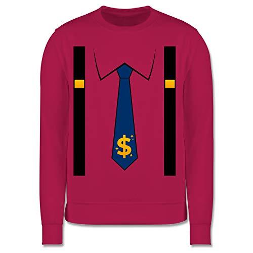 Shirtracer Karneval & Fasching Kinder - Anzug Kostüm mit Dollarzeichen Krawatte - 128 (7/8 Jahre) - Fuchsia - Statement - JH030K - Kinder Pullover