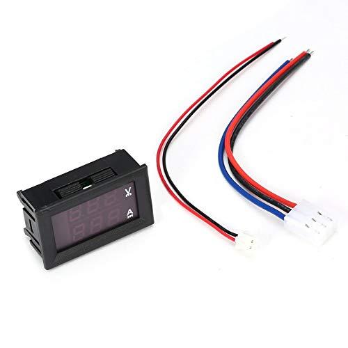 ghfcffdghrdshdfh 1pc digitale voltmeter ampmeter voltmeter voltmeter blauw rood LED Amperimetro Dual Volt meter Gauge Voltage Current meter DC 100V 10A