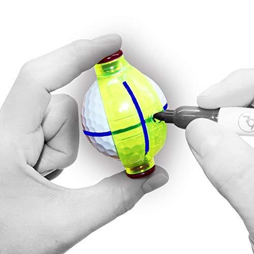 Kit de alineación de dibujo con bola de giro de 360 grados, marcador de pelota de golf con 1 pieza de pelota de golf